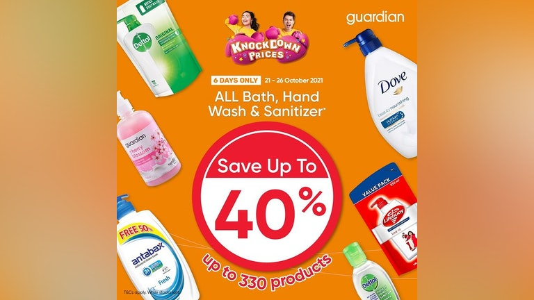 Knockdown Prices on All Baths, Hand Wash & Sanitizers at Guardian