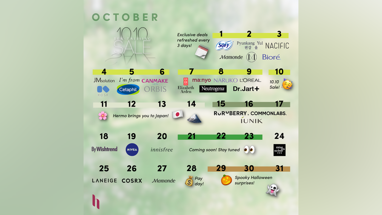 Hermo October 10.10 Ten-Talizing Sale