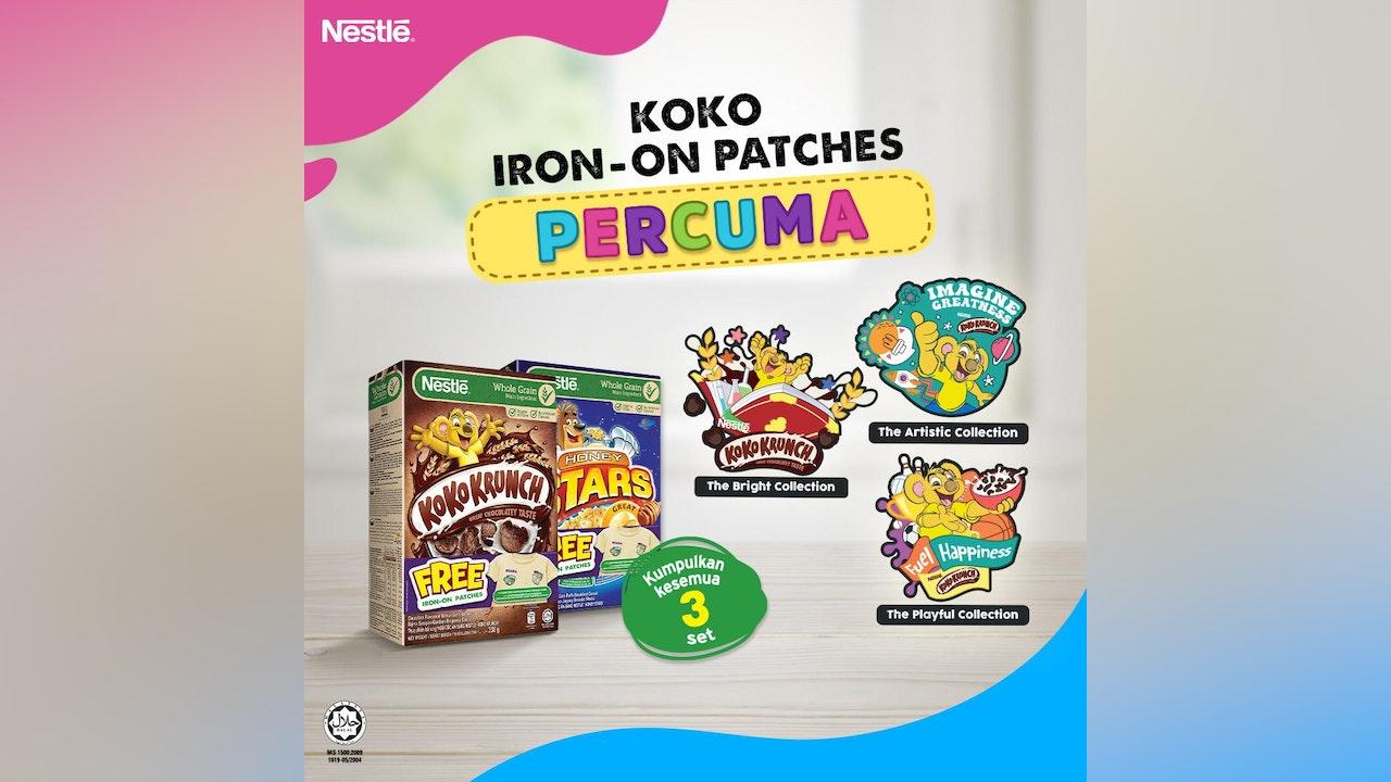 Free Koko Krunch Iron-on Patches