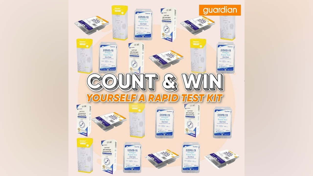 Count & Win Rapid Test Kit Giveaway by Guardian
