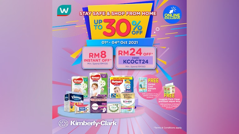 Payday Sales with Kimberly-Clark at Watsons Online
