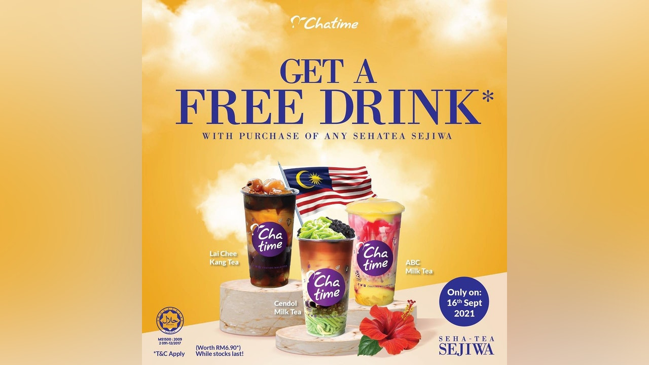 Free Drink from Chatime on Hari Malaysia
