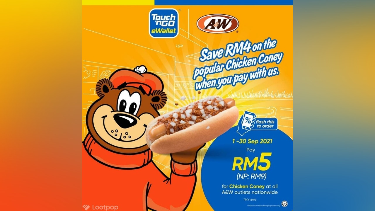 A&W RM5 Chicken Coney Promotion with Touch 'n Go eWallet