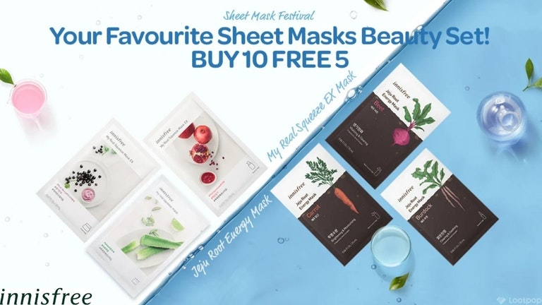 Buy 10 Free 5 innisfree Masks