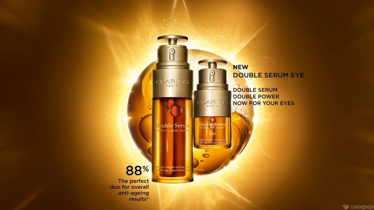 Complimentary Clarins Double Serum Routine Trial Kit