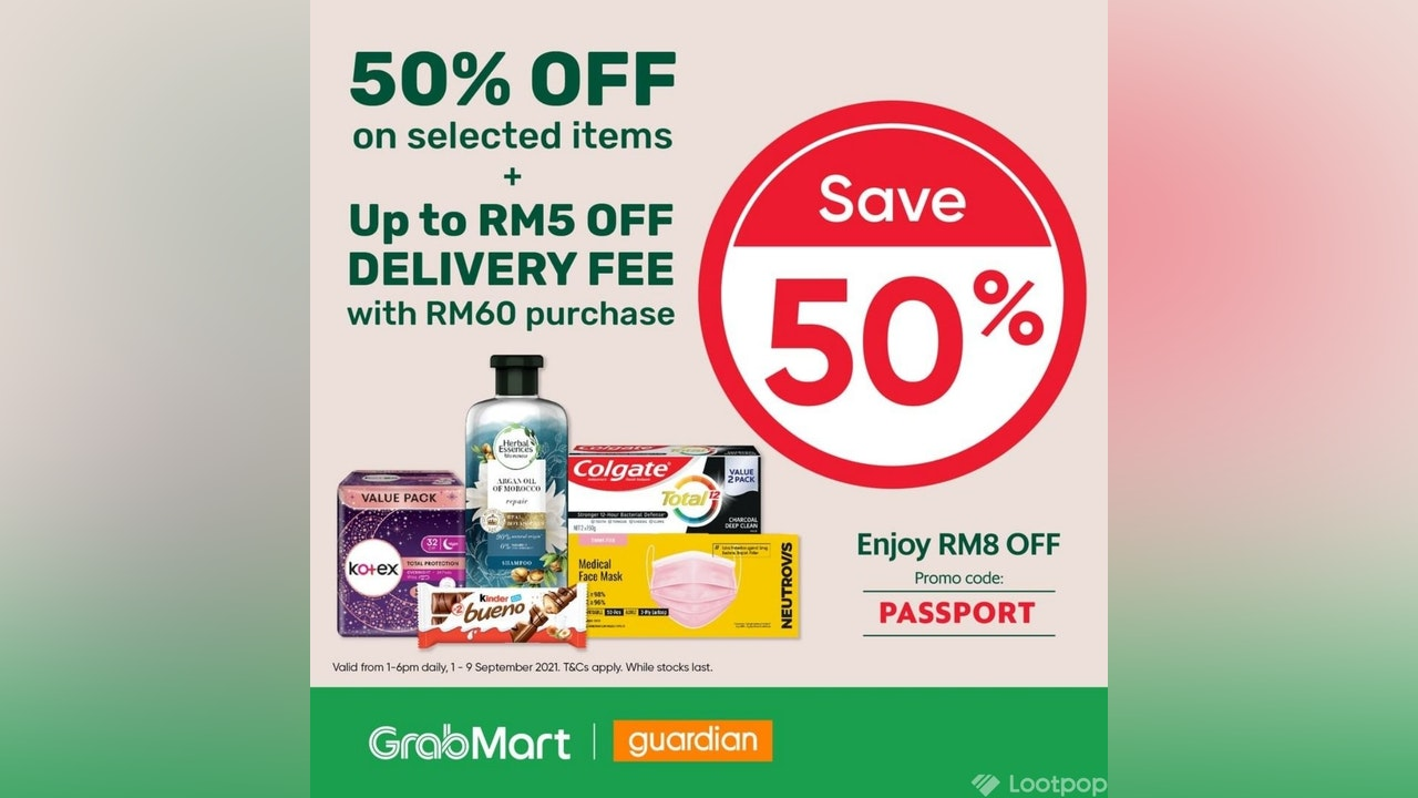 Save up to 50% with Guardian at GrabMart