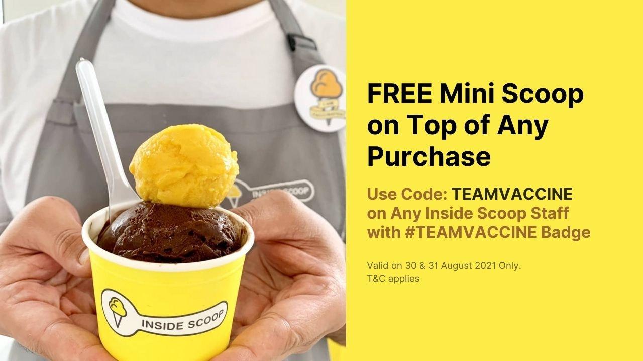 Free Mini Scoop Ice Cream for TEAMVACCINE