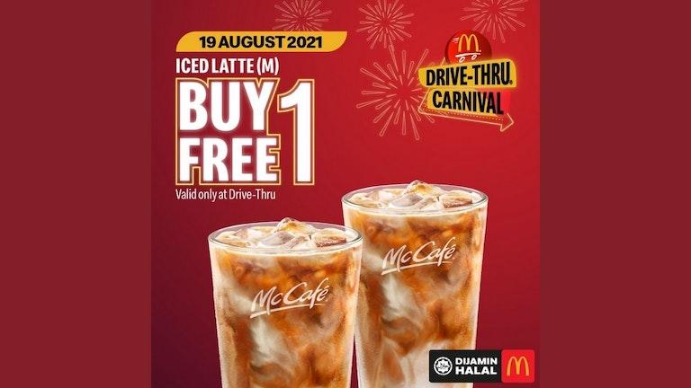Buy 1 Free 1 McCafe Ice Latte at McDonald's