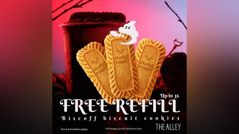 Free Refill: Biscoff Biscuits at The Alley