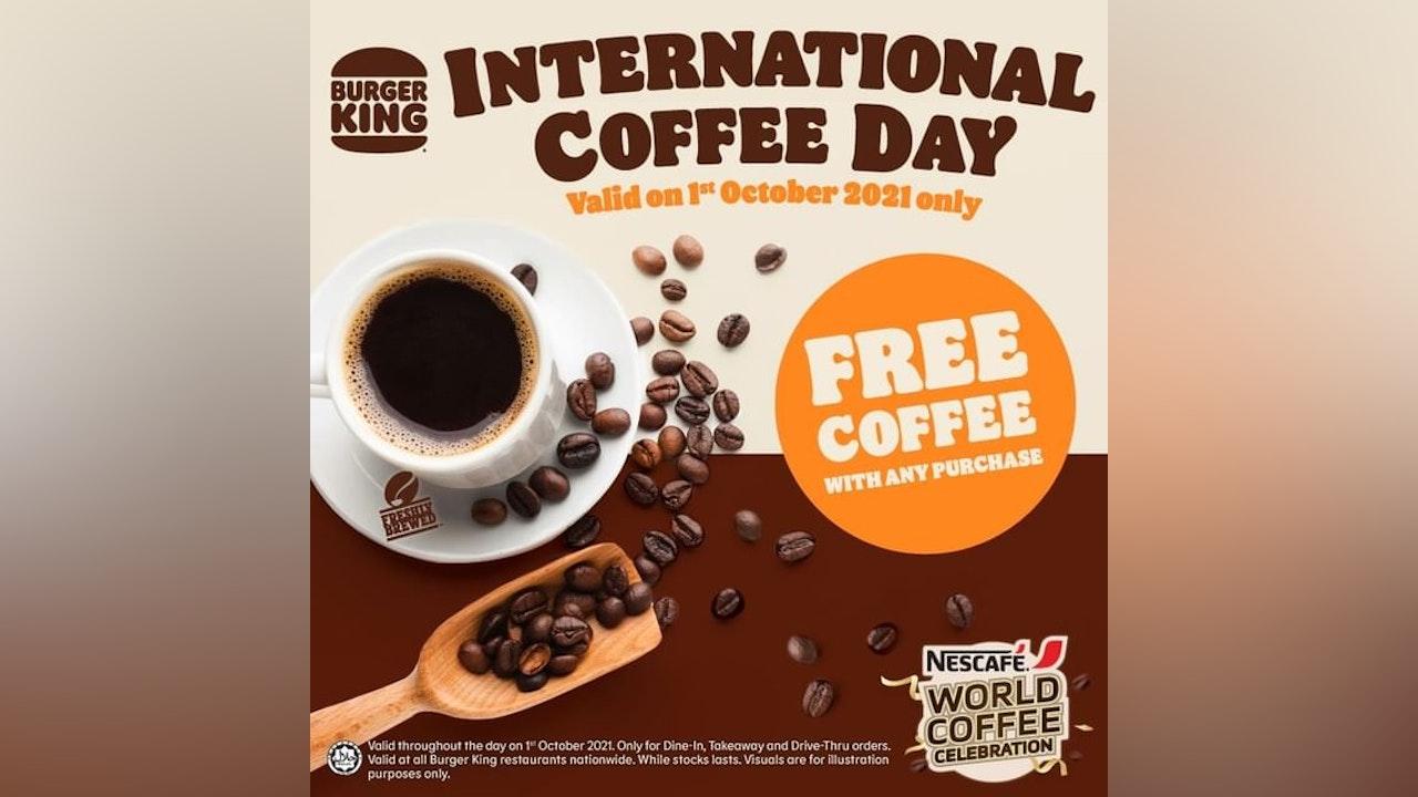 Celebrate International Coffee Day at Burger King