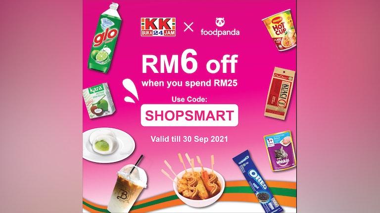 RM6 Off at KK Supermart with foodpanda