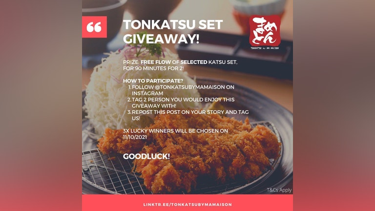 FREE FLOW OF SELECTED KATSU FOR 90 MINUTES FOR 2