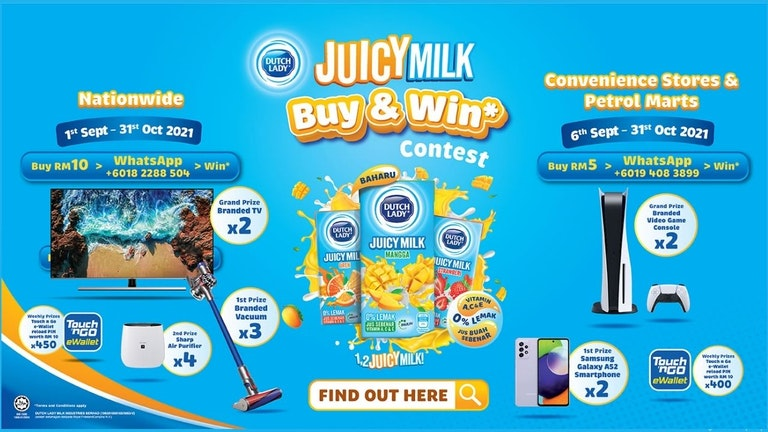 Juicy Milk Buy & Win Contest with Dutch Lady - Petrol Marts & Convenience Store