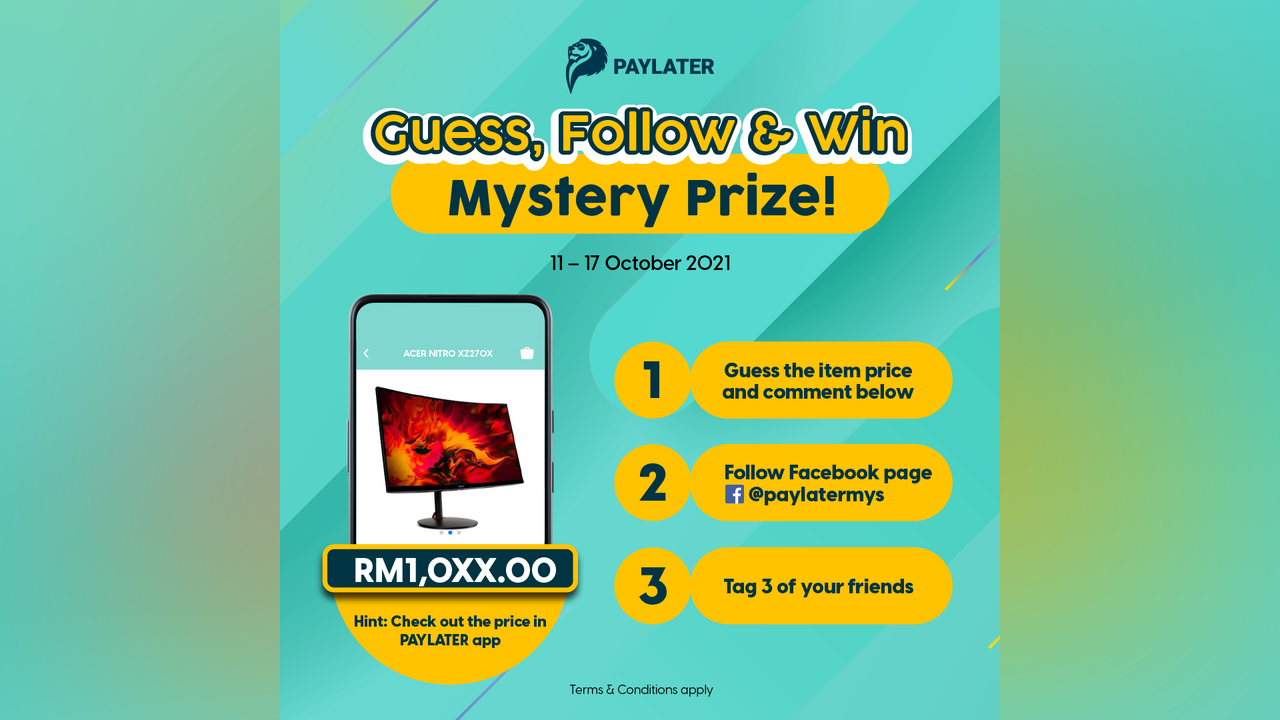 PAYLATER MALAYSIA – Guess, Follow & Win Contest