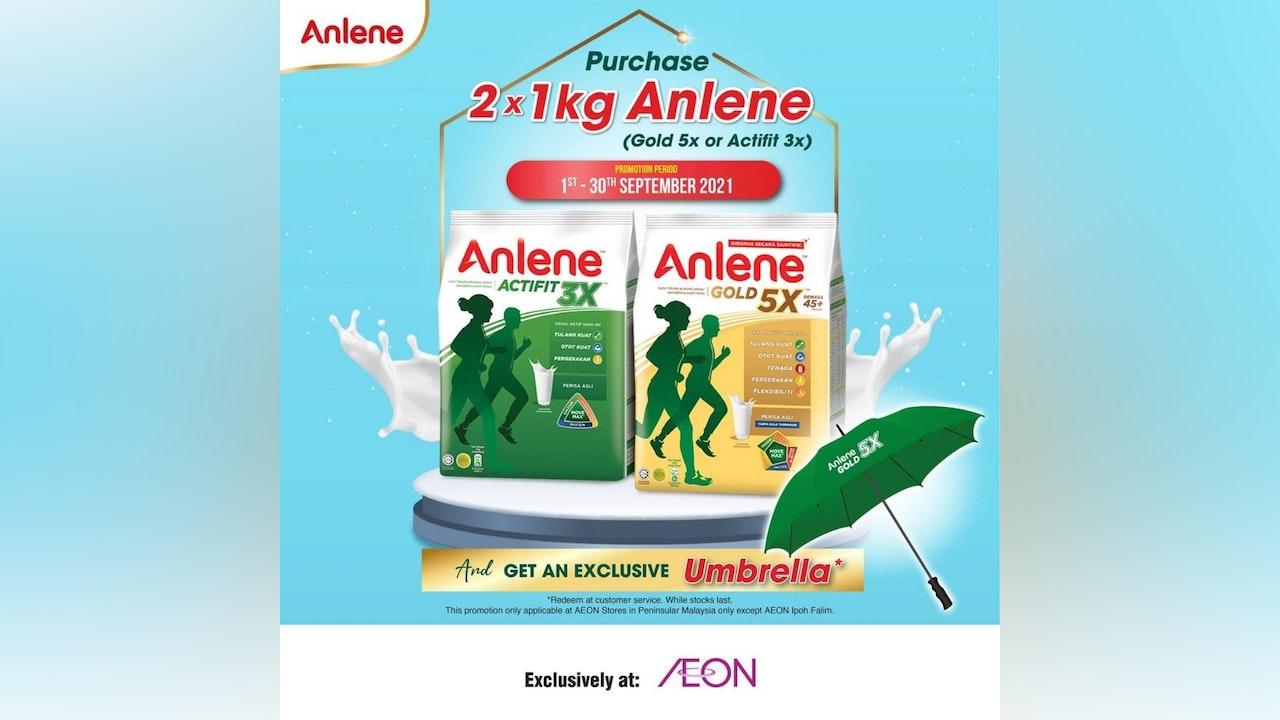 Free Umbrella from Anlene at AEON