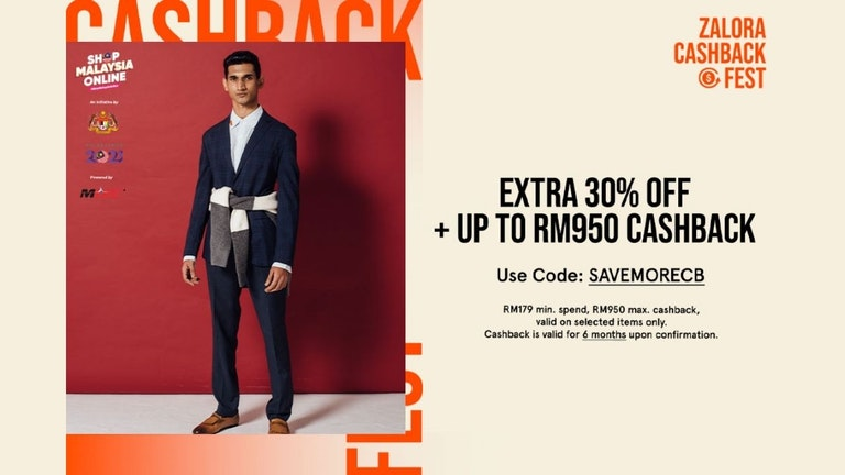 ZALORA Promo Code for 30% OFF and Cashback Up to RM950