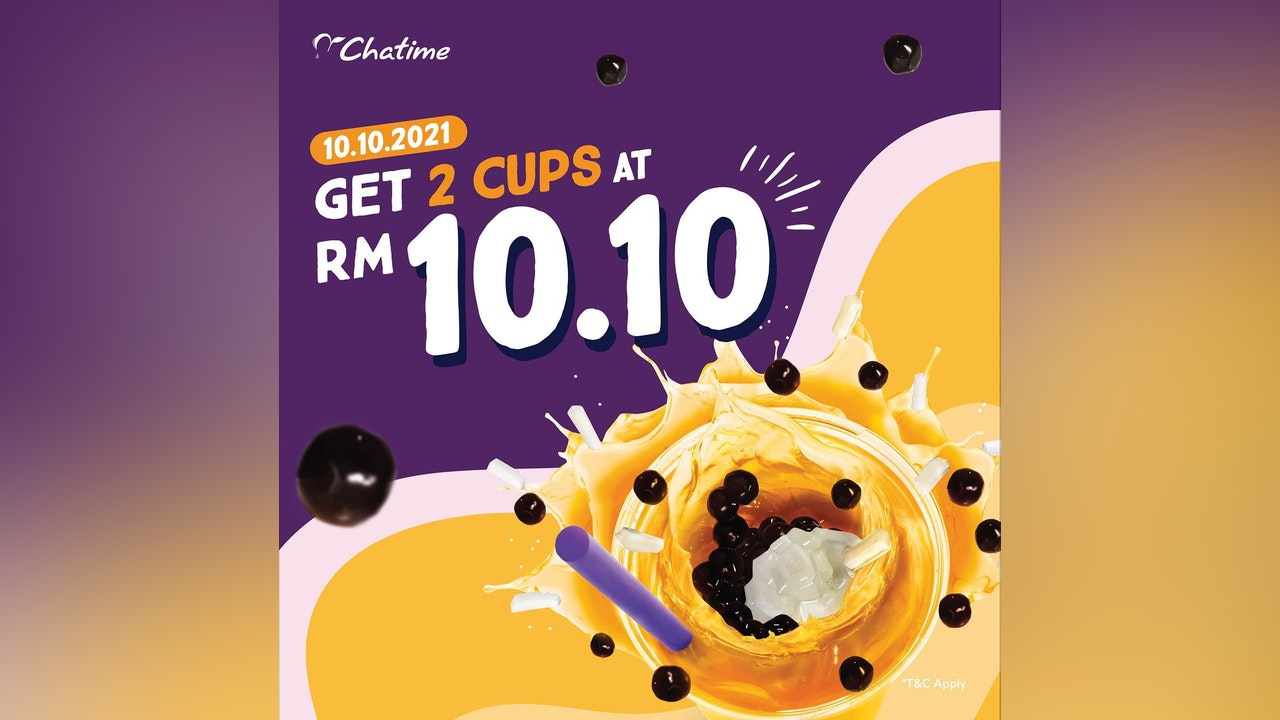 RM10.10 for 2 Drinks at Chatime