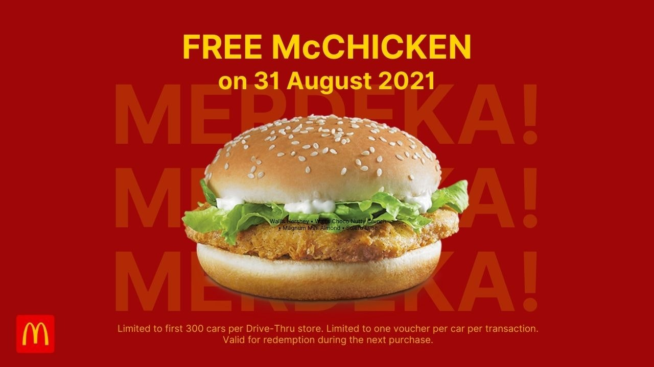 McDonald's Malaysia Drive-Thru Carnival McChicken Giveaway