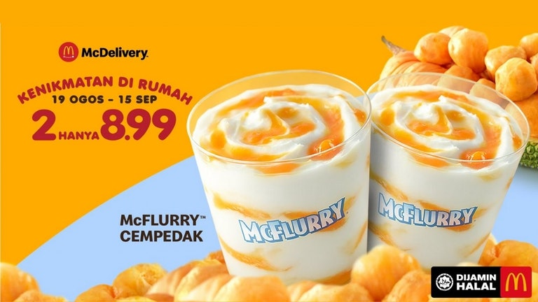Two Cempedak McFlurry at only RM 8.99