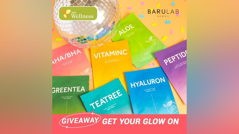 AEON Wellness x BARULAB The Clean Vegan Mask Set Giveaway Contest