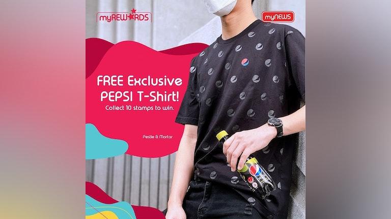 Free Pepsi T-Shirt Stamp Campaign