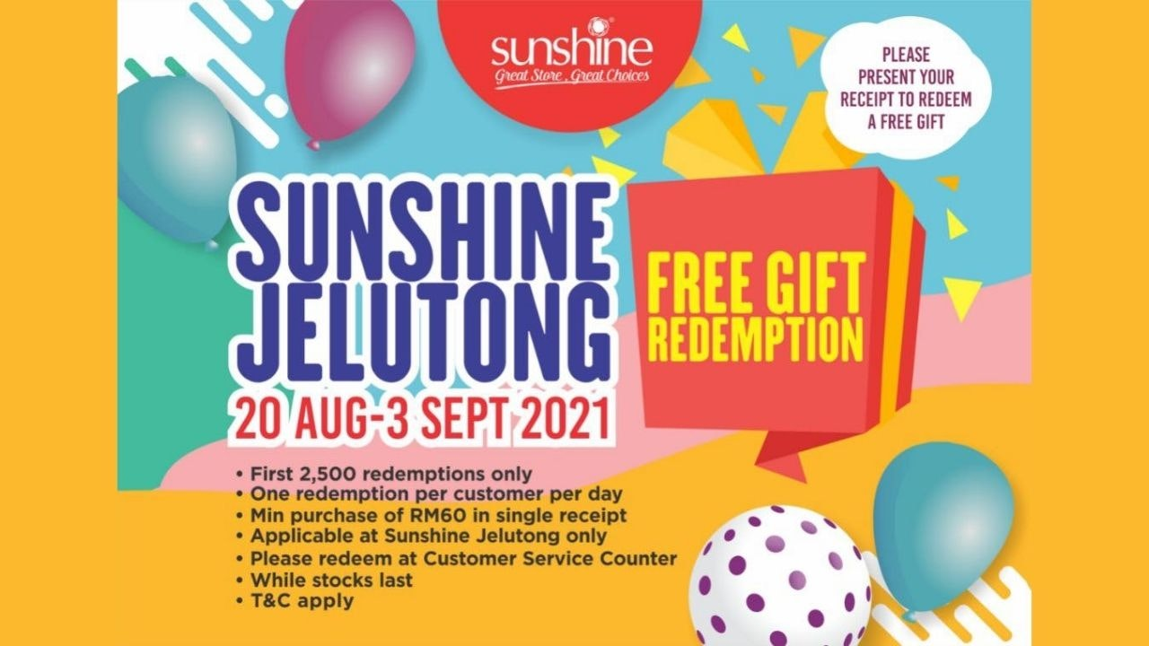 Sunshine Jelutong Free Gift Redemption