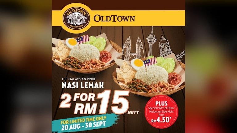 OLDTOWN Nasi Lemak 2 for RM15