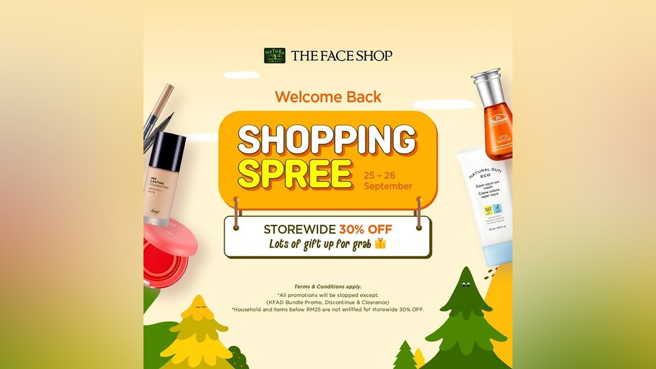 THE FACE SHOP Welcome Back Shopping Spree