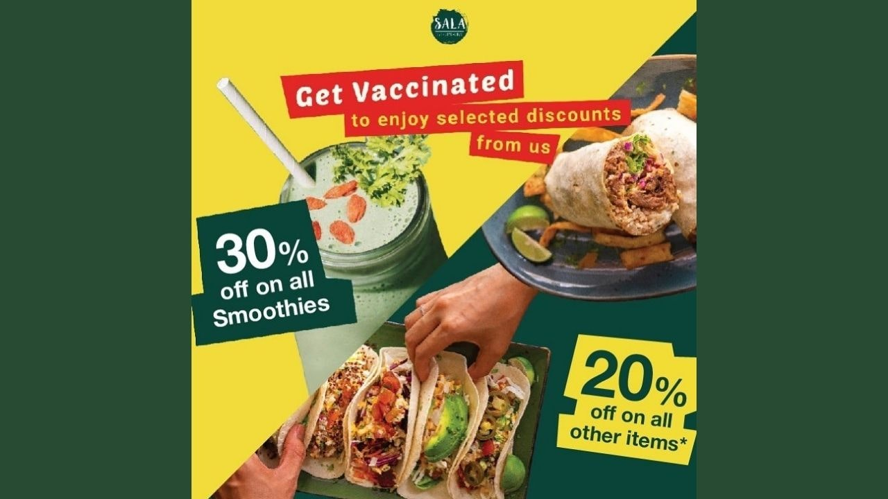 Get Vaccinated to Get Up to 30% Off at Sala