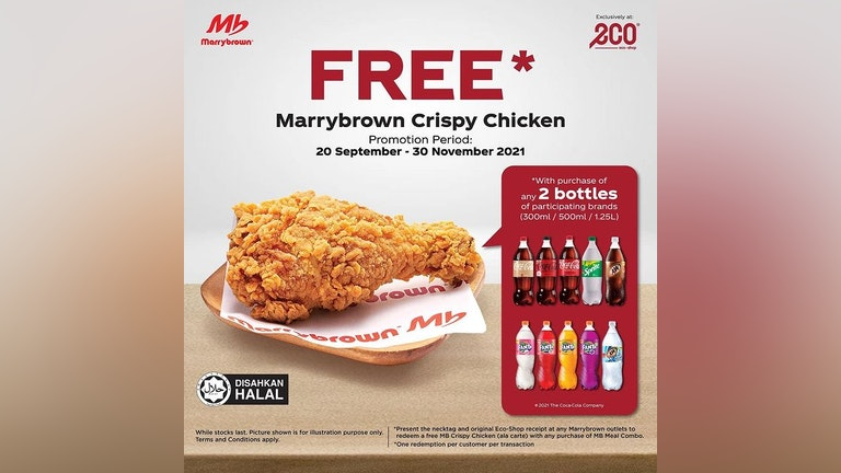 Free Marrybrown Fried Chicken Exclusively from eco-shop