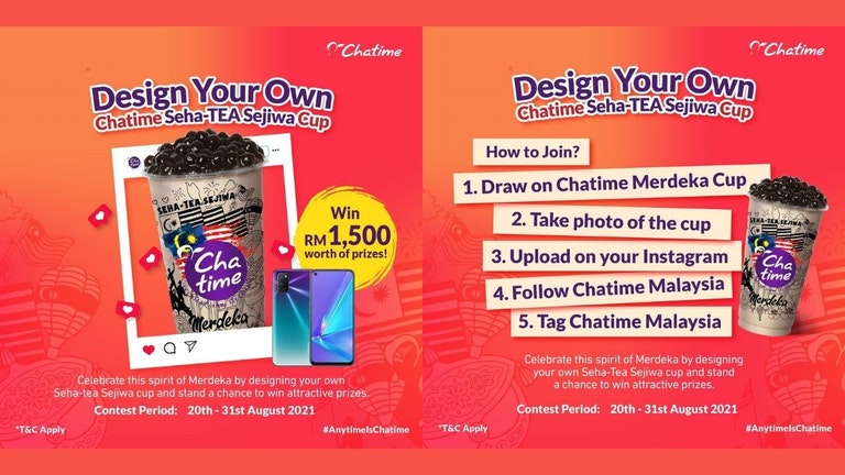 Design Your Own Chatime Seha-TEA Sejiwa Cup Contest