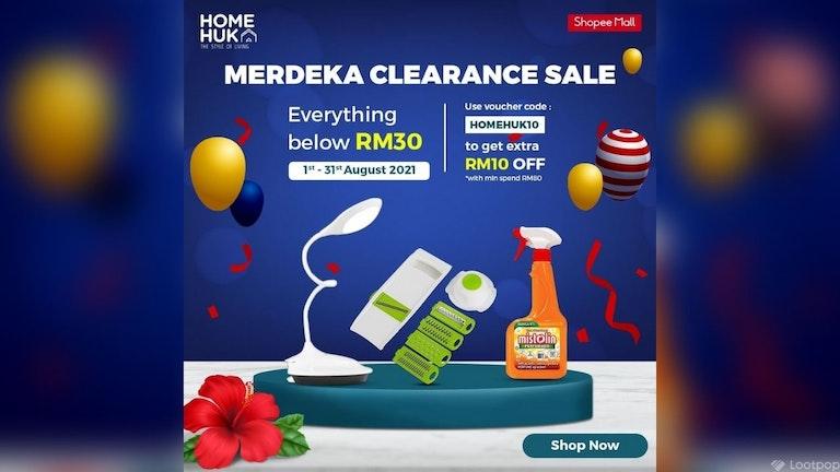 Homehuk Merdeka Clearance Sales