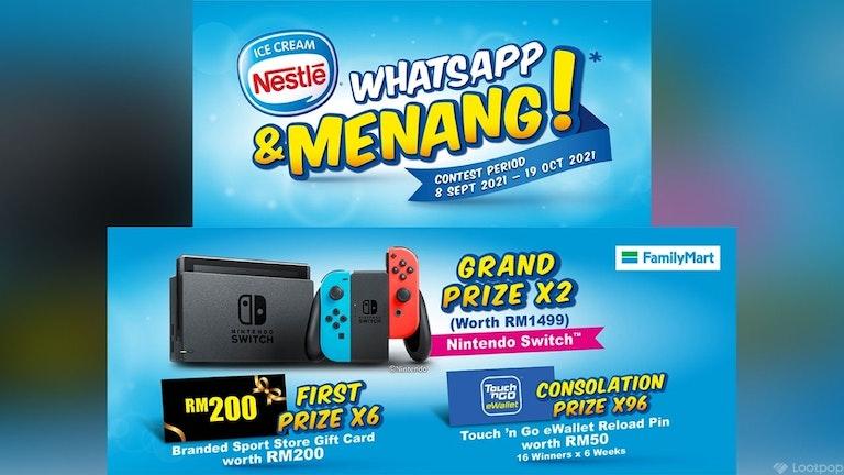 Nestle Ice Cream Whatsapp & Menang Contest