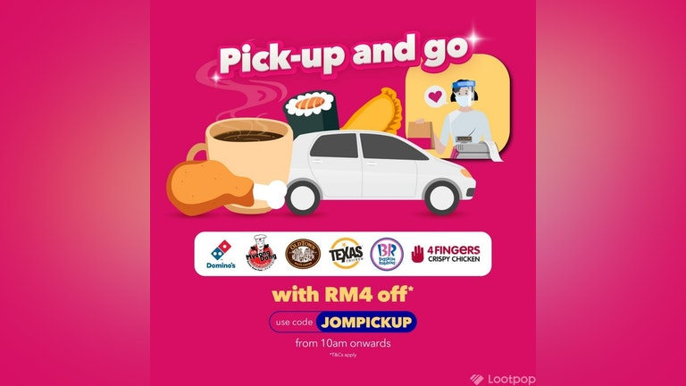 RM4 OFF Pick-Up Orders with foodpanda