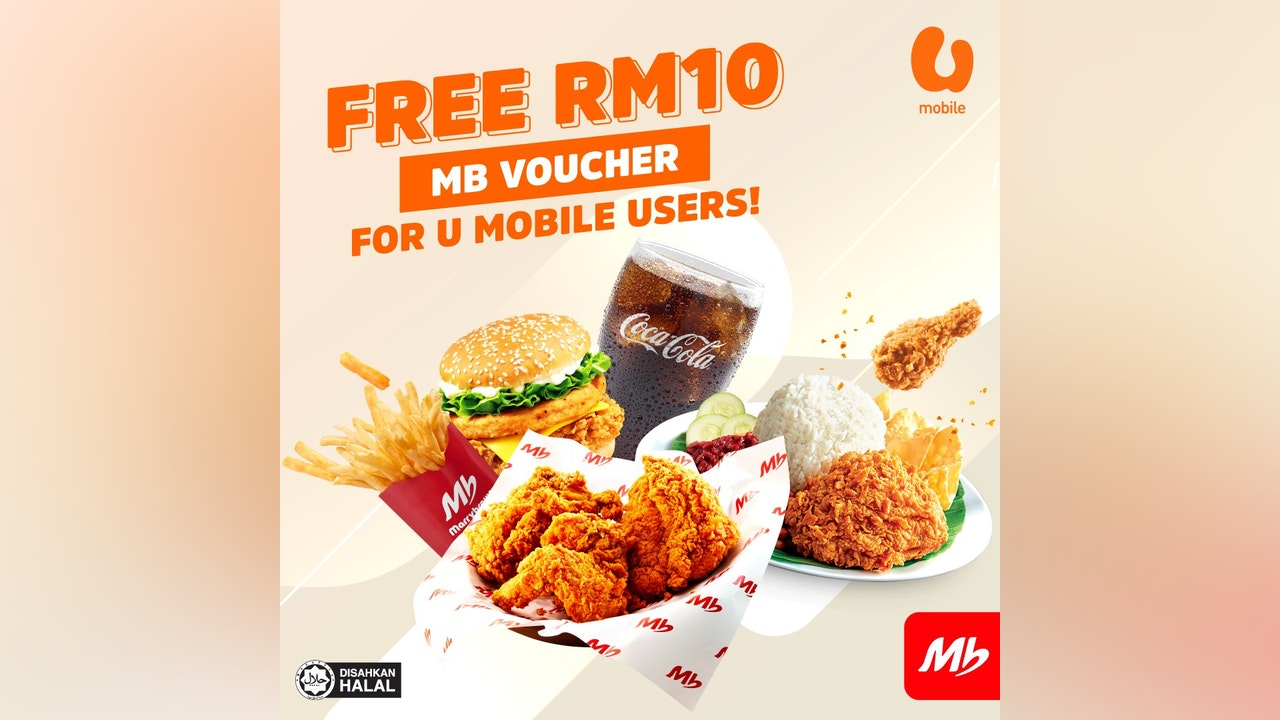 Free RM10 Marrybrown Voucher for U Mobile Users