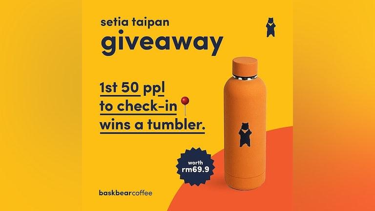 Check-In at Setia Taipan's Bask Bear Coffee, Win Exclusive Tumbler