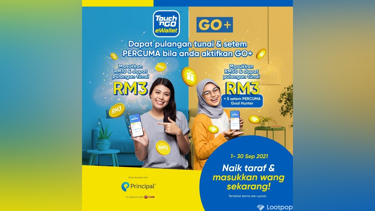Upgrade Your Touch 'n Go eWallet to GO+ and Receive Cashback Rewards
