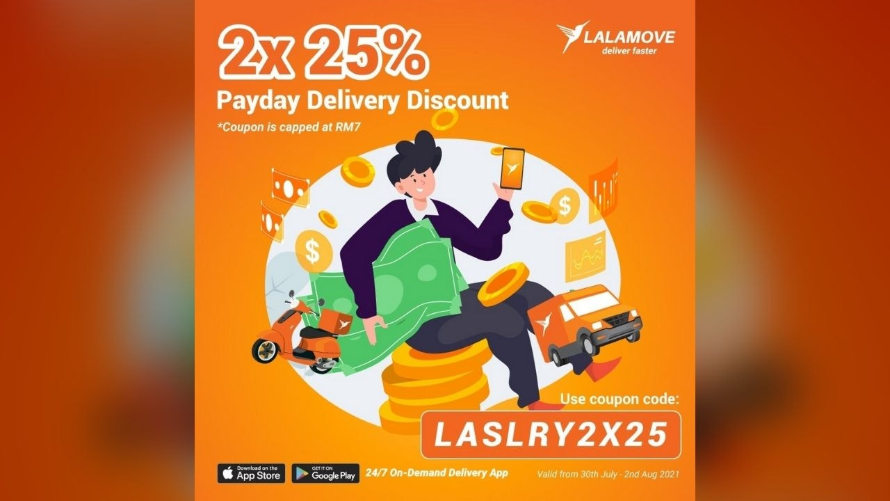 Lalamove 2x 25% Payday Delivery Discount