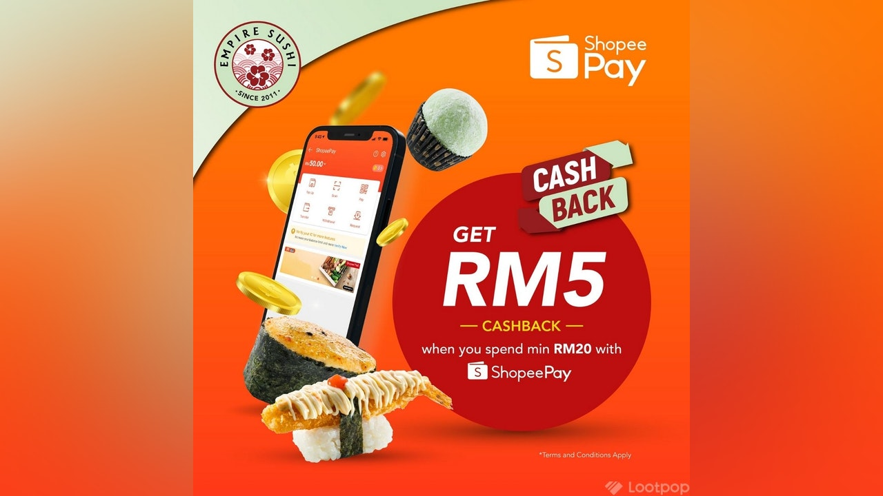 RM5 Cashback at Empire Sushi