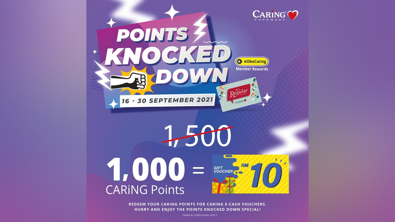 CARiNG Points Knocked Down