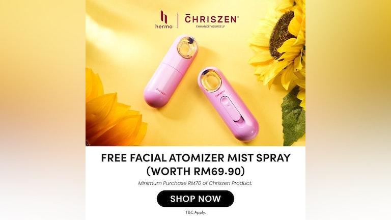 Free Facial Atomizer Mist Spray from Chriszen x Hermo