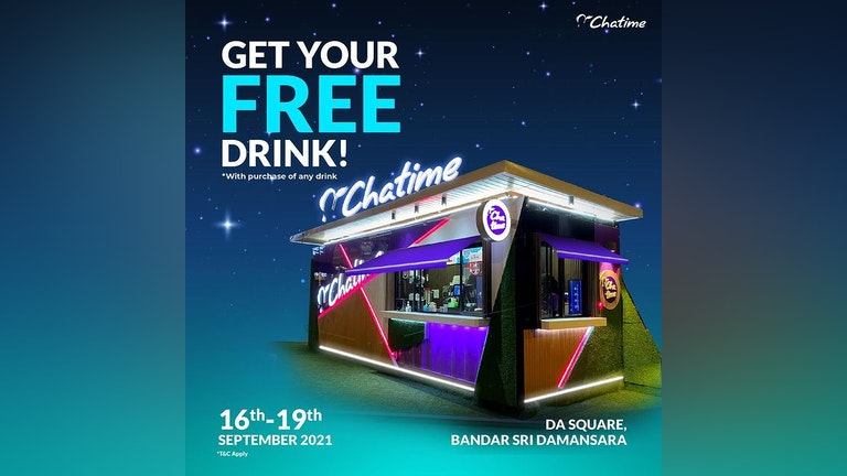 Free Drink from Chatime at DA Square
