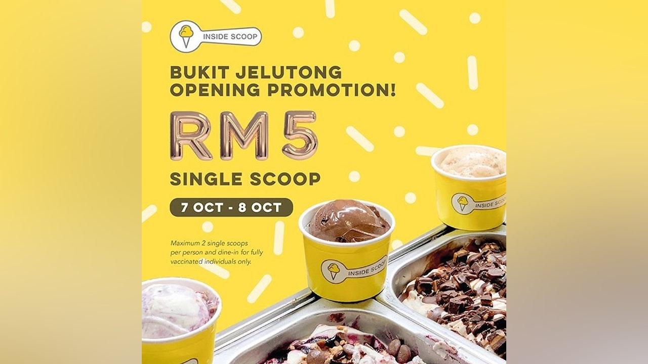 RM5 Single Scoop Ice Cream Opening Promotion