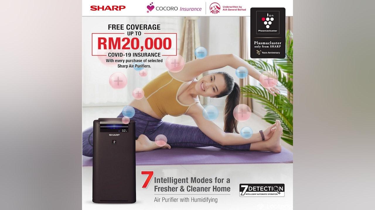 Free Sharp x AIA's Cocoro Insurance COVID-19 Protection Plan