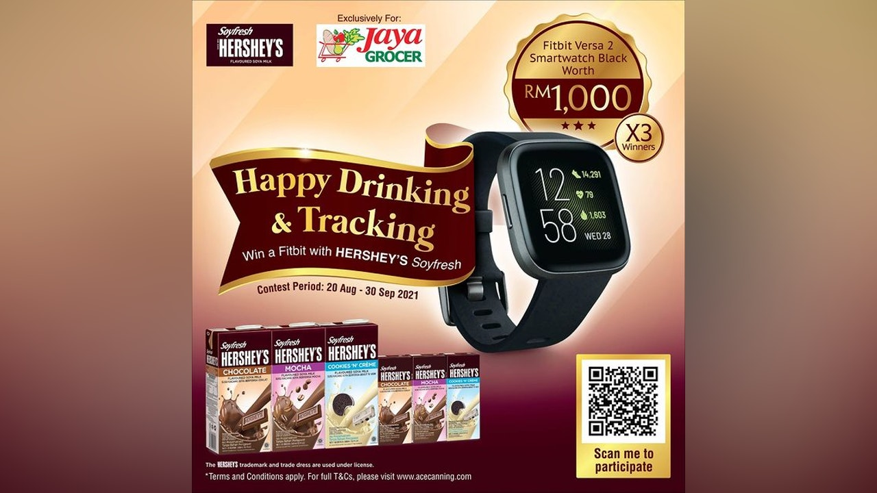 Happy Drinking & Tracking Contest with Hershey's x Jaya Grocer