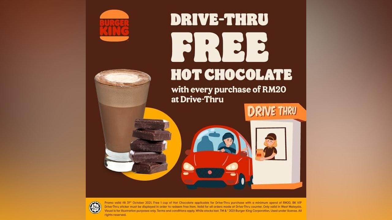 Free Hot Chocolate at Burger King