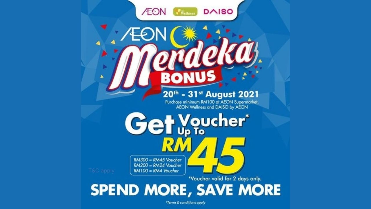 Spend More, Save More with AEON, AEON Wellness, and Daiso