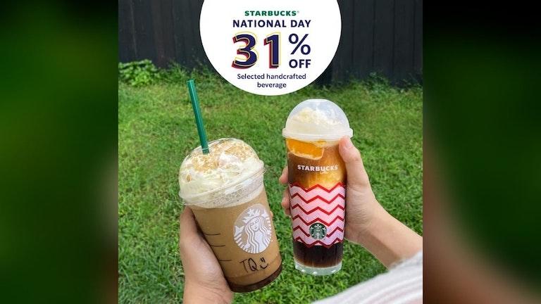 Starbucks National Day 31% Off
