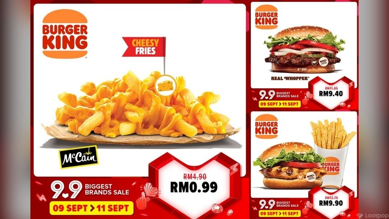 Burger King 9.9 Sale