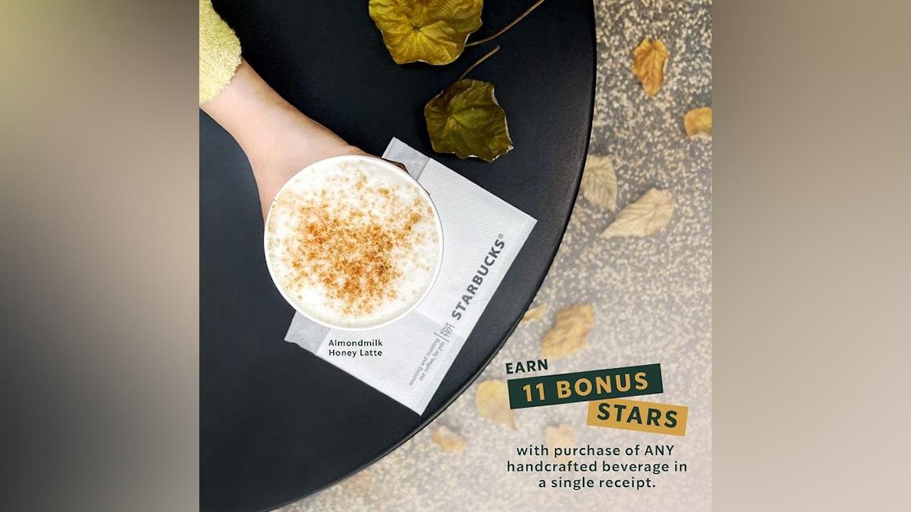Starbucks Member's Day: Earn 11 BONUS STARS